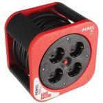 Perel Extensão 4 Tomadas C/ Enrolador (3x 1,5 mm2) - 10 Mts - ECBOX10-G