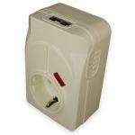 Tomada Protectora Contra Sobrecargas 3500W 16A C/ Fichas Telefone - CA-400FEM