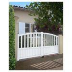 Gardengate Portão de Alumínio Florença 3X1.2-1.4M Branco - 16502626