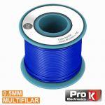 ProK Electronics Cabo Multifilar Azul 0.5mm Rolo 25m - PKCM0.5/25BL