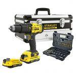Stanley Aparafusadeira 18v 2X2.0ah SFMCD711D2F-QW + 50 Acessórios