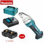 Makita Tesoura a Bateria 18V DJS161Z + 2 Baterias 4.0Ah + Carregador + Mala - DJS161Z