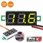 ProK Electronics Voltimetro Digital led Verde 2.5v-30vdc - DIGIVOL30C