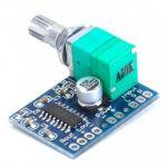 PAM8403 Módulo Mini Amplificador Audio Digital 5V com Potenciómetro - ef17b0261ok
