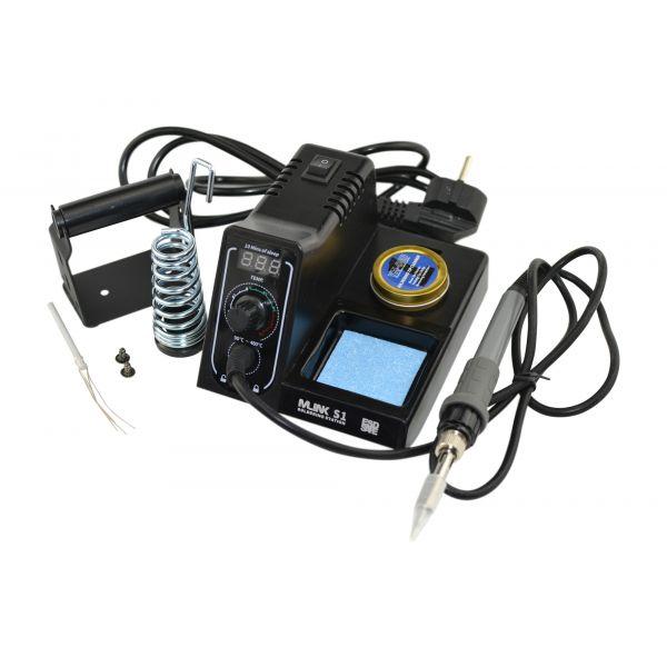 Mlink Estação de Solda S1 Tela Digital de Temperatura de led de 60W, 90-480 ° C, Função de Travamento de Temperatura, Função de Repouso, Incluindo Sobressalentes e Dicas