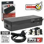ProK Electronics Alimentador 220VAC -15/16/18/19/20/22/24V 5A 90W C/usb