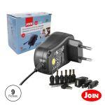 Join Alimentador 220VAC 3/4.5/5/6/7.5/9/12VDC 1.5A 18W Comutado