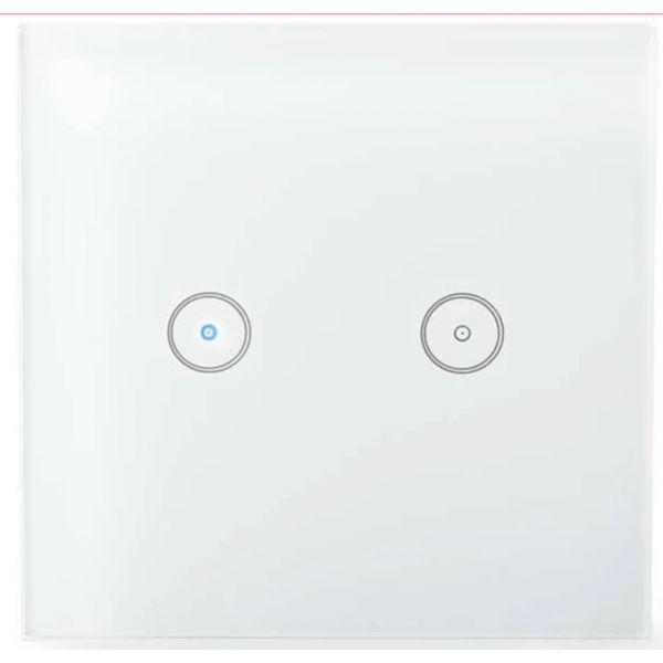 Nedis Interruptor Inteligente Wi-Fi Touch em Vidro p/ Encastrar