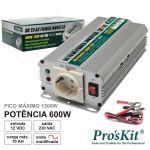 Pro's Kit Conversor 12V-230V 600W Onda Sinusoidal Modificada