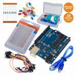Arduino Kit Uno + Cabo usb + Breadboard + Leds - ef18c0008vp