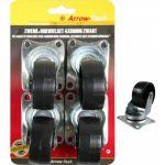 Benson Pack de 4 Rodas Pretas (4x50mm) Proftc - c0238ce