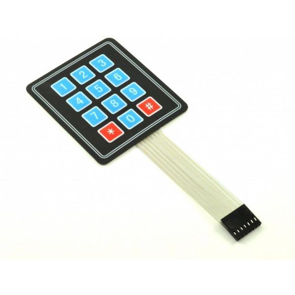 Satkit Teclado Matriacial 4x3 Flexível [Arduino Compatível]
