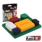 Prok Electronics Placa de Ensaio Multifunções com 355 Pontos 6 Módulos - PKBB06A