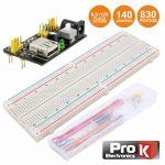 Prok Electronics Placa de Ensaio Multifunções com 830 Pontos 140 Jumpers/dc - PKBB830J140DC