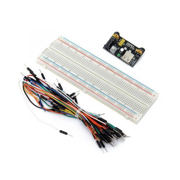 Prok Electronics Placa de Ensaio Multifunções com 830 Pontos 65 Jumpers/dc - PKBB830J65DC