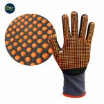 EDM Par Luvas de Protecção Nylon Anti-deslizante em Nitrilo Cinza (T 8) - 80209