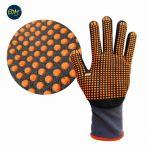 EDM Par Luvas de Protecção Nylon Anti-deslizante em Nitrilo Cinza (T 9) - 80210
