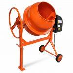 Betoneira Misturador Concreto Cimento 140L 650 W Aço Laranja - 141165