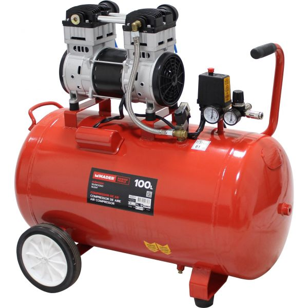 Mader Compressor de Ar Silencioso 100L - 2Hp - 09370