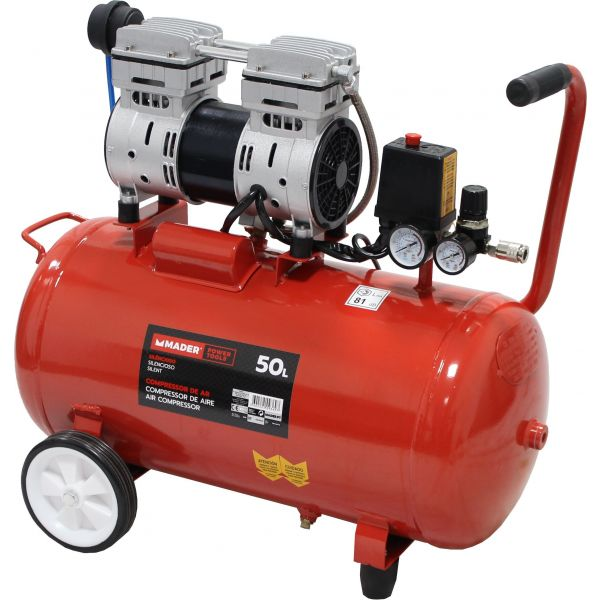 Mader Compressor de Ar Silencioso 50L - 1Hp - 09369