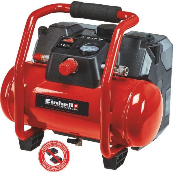 Einhell Compressor TE-AC 36/6/8 Li OF Set-Solo - 4020450