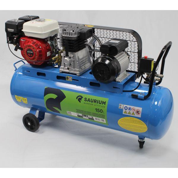 Saurium Compressor de Ar a Gasolina + Elétrico 150L 5.5 HP - 37154