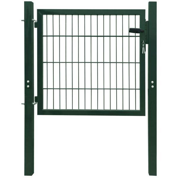 Portão de Cerca em Aço Verde 106x150 cm - 142028