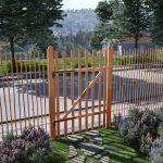 Portão para Cerca 1 Pc 100x150 cm Madeira de Aveleira Impregnada - 142598