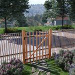 Portão para Cerca 1 Pc 100x120 cm Madeira de Aveleira Impregnada - 142597