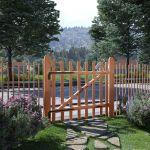 Portão para Cerca 1 Pc 100x90 cm Madeira de Aveleira Impregnada - 142595