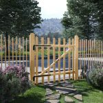 Portão para Cerca 1 Pc 100x100 cm Madeira de Aveleira - 142591