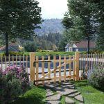 Portão para Cerca 1 Pc 100x60 cm Madeira de Aveleira - 142589