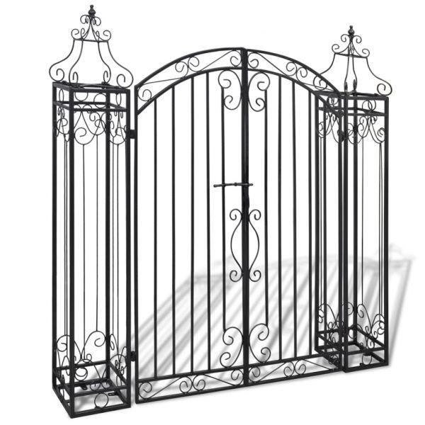 Portão de Jardim Ornamental 122x20,5x134 cm Ferro Forjado - 40905