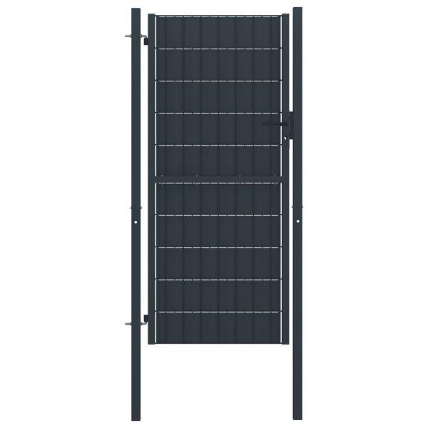 Portão de Cerca 100x124 cm Aço Antracite - 145234