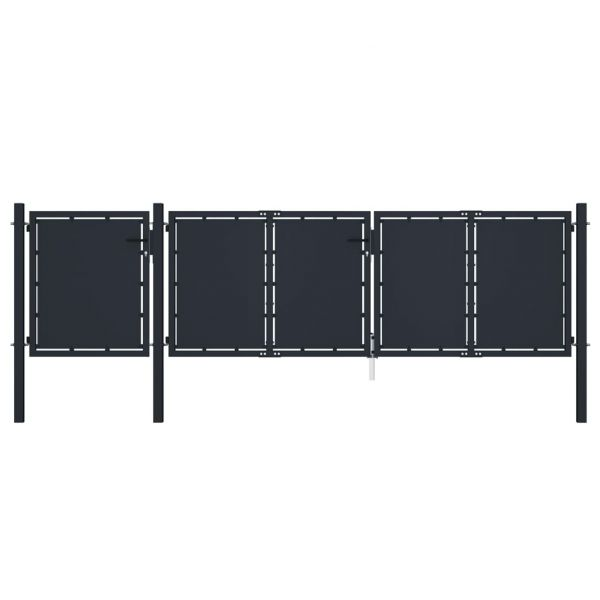 Portão de Jardim 4x1,25 M Metal Antracite - 144547