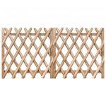 Portões de Jardim 2 Peças 300x100 cm Pinho Impregnado - 49224