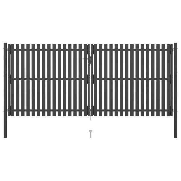 Portão de Cerca para Jardim 4x2 M Aço Antracite - 146336