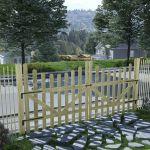 Portão de Jardim 2 Peças 150x150 cm Pinho Impregnado - 45162