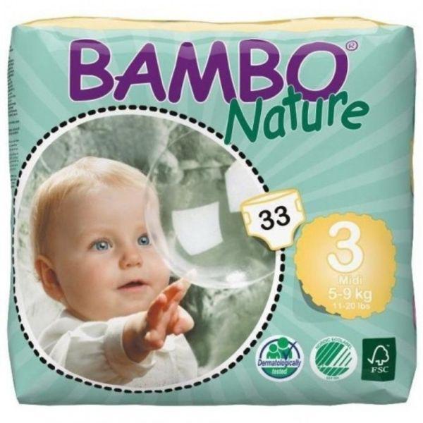 Bambo Nature Fraldas Midi 5-9Kg x33