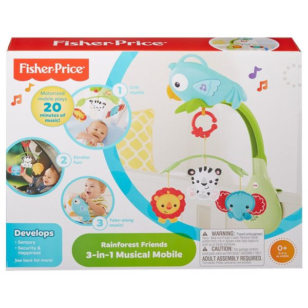 Fisher-Price Móbile da Floresta 3 em 1 - CHR11
