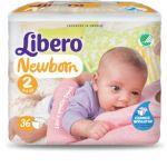 Libero Baby Soft Recém-nascido T2 3-6Kg x36