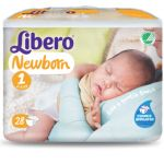 Libero Baby Soft Recém-nascido T1 2-4Kg x28