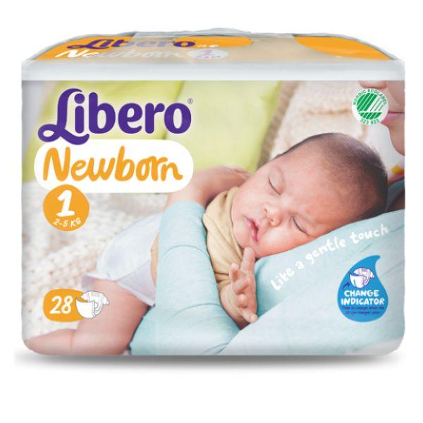 Libero Baby Soft Recém-nascido T1 2-5Kg x28