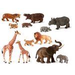Miniland Animais da Selva com Crias 12 Figuras - 25137