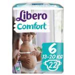 Libero Fraldas Comfort Fit Tamanho 6 XL 13-20Kg 22 un.
