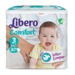 Libero Comfort Tamanho 3 4-9Kg 30 Fraldas Pack de 8