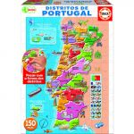 Educa Puzzle 150 Peças - Distritos Portugal - 16929