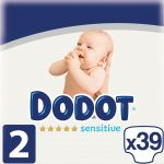 Dodot Fraldas Sensitive T2 3-6Kg x34