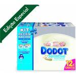 Kit Dodot Fraldas Sensitive Recém-Nascidos 30 fraldas + 2 x 34 fraldas + 54 toalhitas
