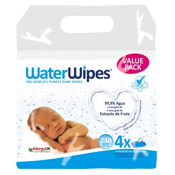 WaterWipes Toalhitas 60x 4 un.